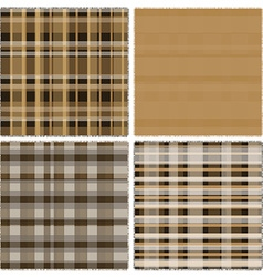 Patch work material in brown vector