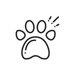paw print line icon animal footprint sign and vector image