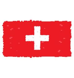 pixelated flag of switzerland vector image