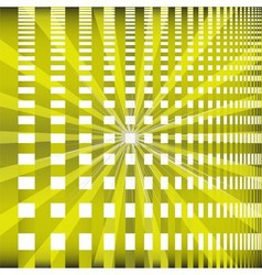 Ray checkerboard theme green background vector