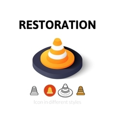 Restoration icon in different style vector