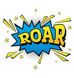 Roar Comic Text in Pop Art Style vector