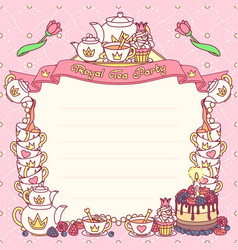 royal tea party template vector image