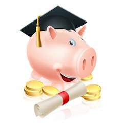 Saving for career piggy bank vector