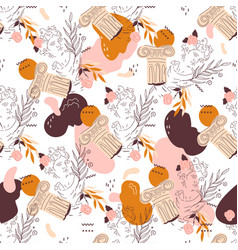 Seamless pattern design with line image vector