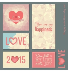 set cards templates for valentine day vector image