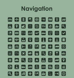 Set of navigation simple icons vector
