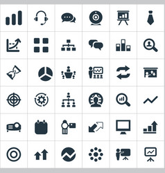 Set of simple training icons vector