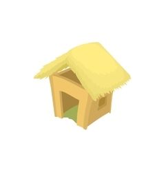 Shack icon cartoon style vector