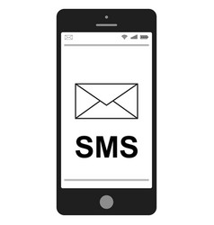 Short message service sms mobile phone vector