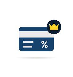 simple loyalty card with crown icon vector image
