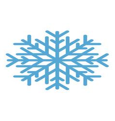 snowflake icon isometric style vector image