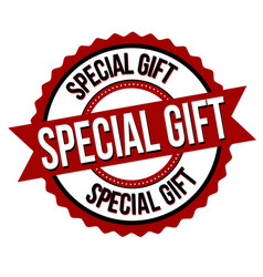 special gift label or sticker vector image
