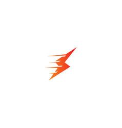 speed bolt flash logo vector image