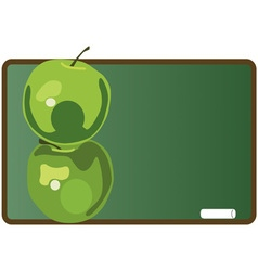 Stacked Green Apples vector