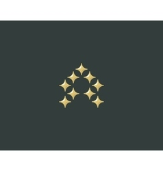 Stars letter a logotype luxury abc icon vector