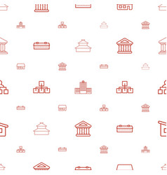 Structure icons pattern seamless white background vector