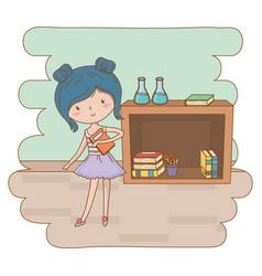 Teenager girl cartoon design vector