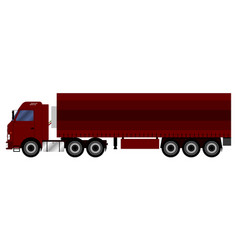 truck with a trailer that transports cargo vector image