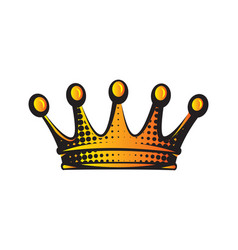 with color crown isolated clipart vector image