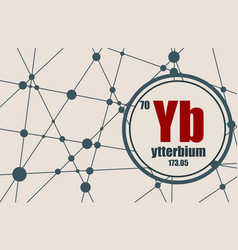 ytterbium chemical element vector image