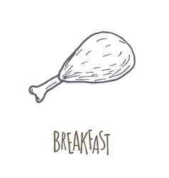 Breakfest hand drawn icon over white background vector