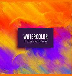 bright watercolor background with ink flowing vector image