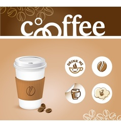 Coffee creative background vector image vector image