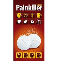 Painkiller tablets vector