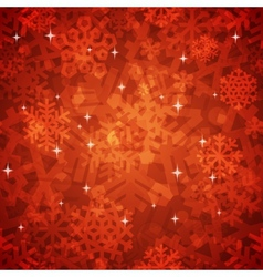Shiny Red Snowflakes Seamless Pattern for vector image vector image