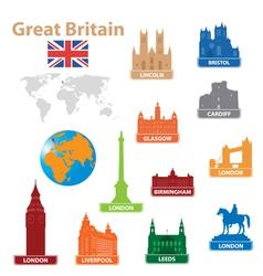 Symbols city to great britain vector