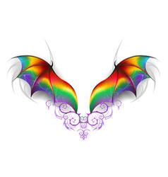 wings of rainbow dragon vector image