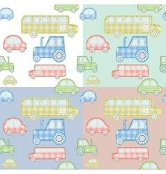 car pattern for kids vector image