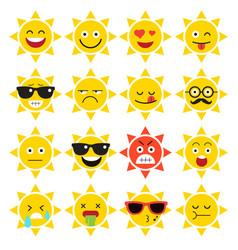 emojis sun sunlight vector image vector image