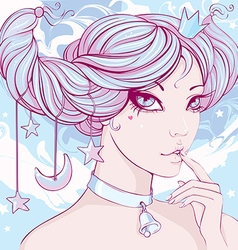 fairy with large expressive vector image vector image