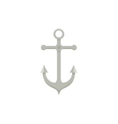 sailing boat anchor flat cartoon vector image vector image
