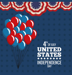 united states independence day july holiday vector image vector image