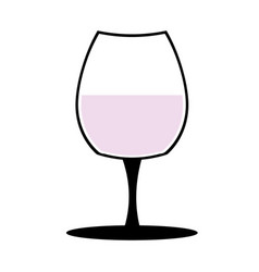 vine-glass silhouette of goblets with wine or vector image vector image
