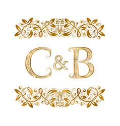 C and b vintage initials logo symbol letters c vector
