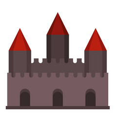 castle tower icon isolated vector image vector image