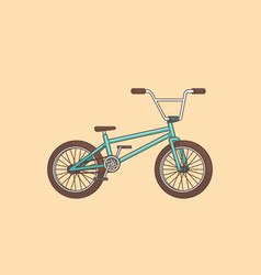 Colorful cartoon bicycle concept vector