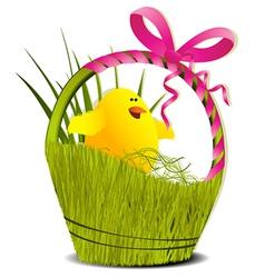 Easter basket vector image vector image