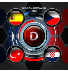European Flag Buttons D vector image