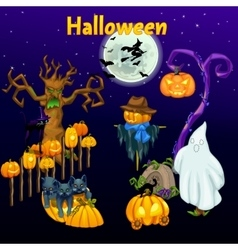 Meeting of the spirits on Halloween vector image
