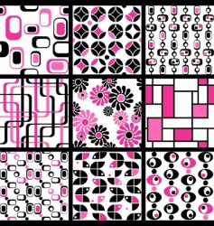 modern seamless patterns vector image vector image