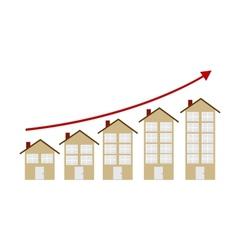 Rising Housing Market Concept vector image