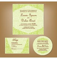 Wedding set green vector