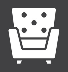armchair solid icon furniture and interior vector image vector image