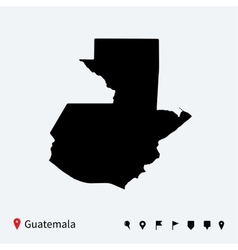 High detailed map of Guatemala with navigation vector image vector image