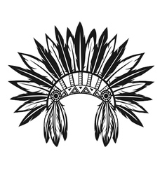 Indian headdress vector image vector image